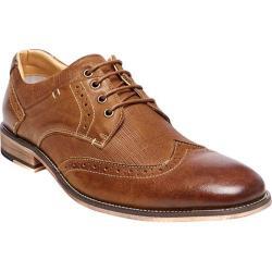 Men's Steve Madden Jumboe Wing Tip Oxford Dark Tan Leather