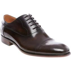 Men's Steve Madden Poter Cap Toe Oxford Brown Smooth Leather