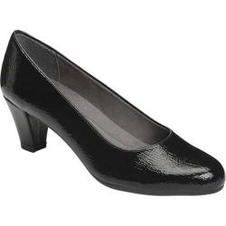 Women's A2 by Aerosoles Redwood2 Pump Black Faux Patent Leather