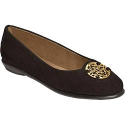 Women's Aerosoles Exhibet Flat Black Suede