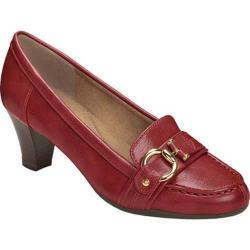 Women's Aerosoles Seashore Heel Dark Red Faux Leather