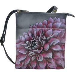Women's Anuschka RFID Blocking Triple Compartment Travel Organizer Dreamy Dahlias Pink