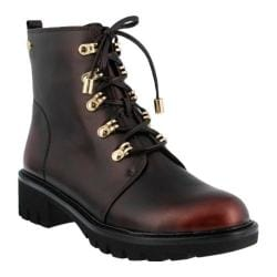Women's Azura Sarik Combat Boot Bordeaux Synthetic