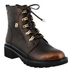 Women's Azura Sarik Combat Boot Bronze Synthetic