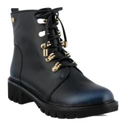 Women's Azura Sarik Combat Boot Navy Synthetic