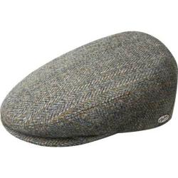 Men's Bailey of Hollywood Lord Stripe Herringbone Flat Cap 25238 Grey Multi