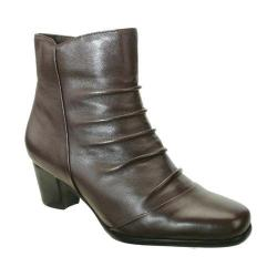 Women's David Tate Nora Bootie Brown Lambskin