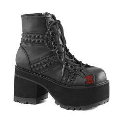 Women's Demonia Ranger 108 Ankle Boot Black Vegan Leather