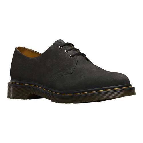 142ffbcc3e5 Shop Dr. Martens 1461 3-Eye Shoe Graphite Grey Soft Buck - Free Shipping  Today - Overstock - 12780379