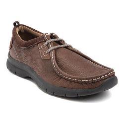 Men's Dockers Danecroft Moc Toe Brown Tumbled Full Grain Leather