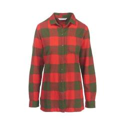 Women's Woolrich Oxbow Bend Tunic Flannel Shirt Dark Guava Buffalo