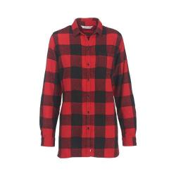 Women's Woolrich Oxbow Bend Tunic Flannel Shirt Old Red Buffalo