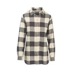 Women's Woolrich Oxbow Bend Tunic Flannel Shirt Wool Cream Buffalo
