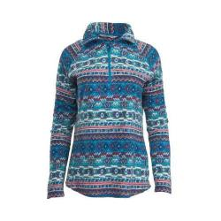 Women's Woolrich Colwin Printed Fleece Half-Zip Pullover Seaport