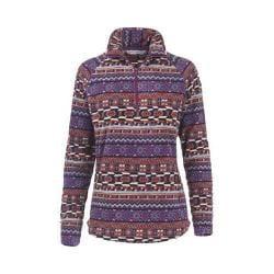 Women's Woolrich Colwin Printed Fleece Half-Zip Pullover Wisteria