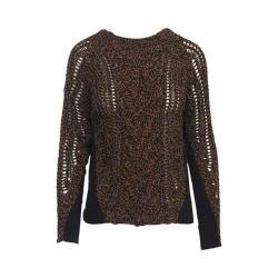 Women's Woolrich Crew Sweater Black Chicory Twist
