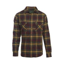 Men's Woolrich Hiker's Trail Flannel Shirt Dark Plum
