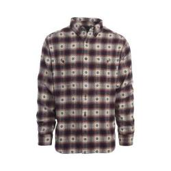 Men's Woolrich Trout Run Dobby Button Down Shirt Deep Indigo