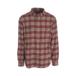 Men's Woolrich Trout Run Dobby Button Down Shirt Deep Ruby