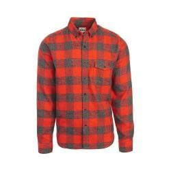 Men's Woolrich Twisted Rich Flannel Button Down Shirt Old Red