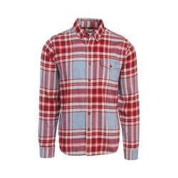 Men's Woolrich Twisted Rich Flannel Button Down Shirt Russet Brown