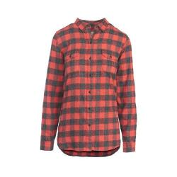 Women's Woolrich Twisted Rich Flannel Button Down Shirt Old Red Buffalo