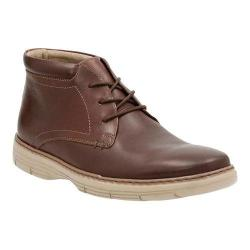 Men's Clarks Watts Mid Chukka Boot Brown Cow Full Grain Leather