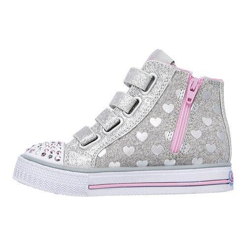 ab0c95cbf54d5 ... Thumbnail Girls' Skechers Twinkle Toes Shuffles Doodle Days High  Top ...