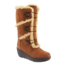 Women's Bearpaw Allie Wedge Boot Hickory II Microsuede