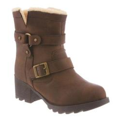 Women's Bearpaw Felicity Ankle Boot Chocolate II Faux Leather