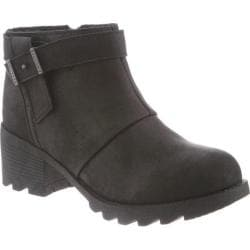 Women's Bearpaw Thea Ankle Bootie Black II Faux Leather