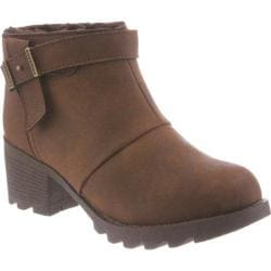 Women's Bearpaw Thea Ankle Bootie Chocolate II Faux Leather