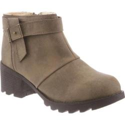 Women's Bearpaw Thea Ankle Bootie Stone Faux Leather