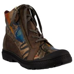 Women's L'Artiste by Spring Step Boneca Bootie Brown Multi Leather