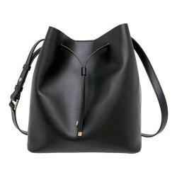 Women's Lodis Blair Gail Medium Drawstring Handbag Black/Cobalt