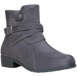 Women's Propet Shelby Ankle Boot Slate Grey Velour