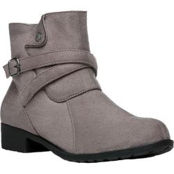 Women's Propet Shelby Ankle Boot Taupe Velour