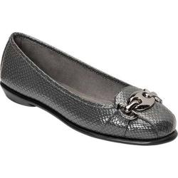 Women's A2 by Aerosoles In Between Flat Grey Snake Faux Leather