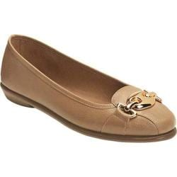 Women's A2 by Aerosoles In Between Flat Light Tan Faux Leather