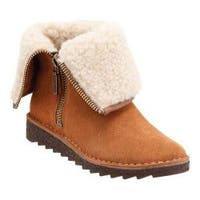 Women's Clarks Olso Beth Ankle Boot Tan Suede