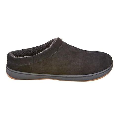 Men's Tempur-Pedic Arlow Clog Slipper Black Suede