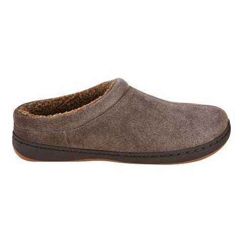 Men's Tempur-Pedic Arlow Clog Slipper Charcoal Suede