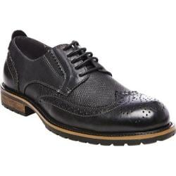 Men's Steve Madden Sparx Wing Tip Oxford Black Leather