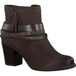 Women's Tamaris Tora Studded Ankle Boot Cigar Combo Leather/Textile