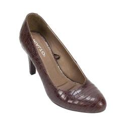Women's Rialto Charlee Pump Dark Brown E-Print/Synthetic