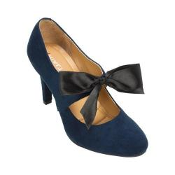 Women's Rialto Corra Ribbon High Heel Navy Suedette/Synthetic