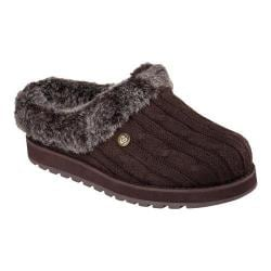 Women's Skechers BOBS Keepsakes Ice Storm Clog Slipper Chocolate