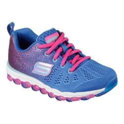 Girls' Skechers Skech-Air Ultra Glitterbeam Sneaker Blue/Neon Pink