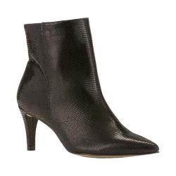 Women's Walking Cradles Shine Bootie Black Patent Lizard Print