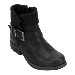 Women's White Mountain Riza Ankle Boot Black Fabric